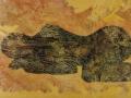 Schlaf / 2000 / 130x90 cm /Öl auf Papier auf Leinwand