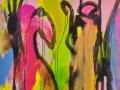 Begegnung / 2006 / 160x120 cm / Acryl auf Leinwand