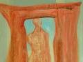 Ohne Titel / 1999 / 110x90 cm / Acryl auf Leinwand