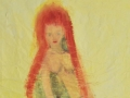 Magersucht / 1999 / 160x120 cm / Papier auf Leinwand