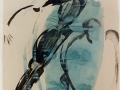 Ohne Titel / 2003 / 100x90cm / Aqarell Tusche Papier LW